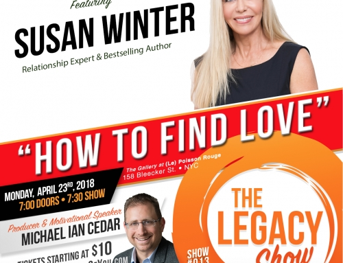 "Join me LIVE in NYC for ""How To Find Love,"" Monday April 23rd 