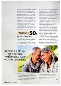 Life Lessons to Excel in Your 30's, 40's and 50's; interview with New Woman Magazine