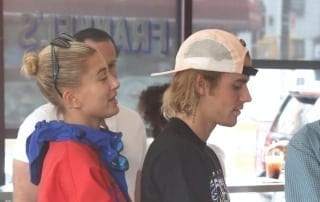 Justin Bieber and his fiancée for all of 20 seconds, Hailey Baldwin