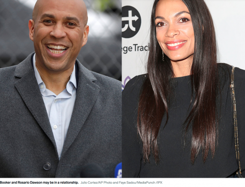 Presidential hopeful Cory Booker confirmed he has a 'boo,' and there's speculation that it's Rosario Dawson | Insider interview