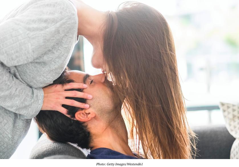 soul mates kissing